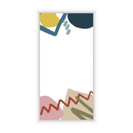 Abstract modern memphis style design for banner, greeting card. Template web and paper design. Different shapes elements. Vector Illustration