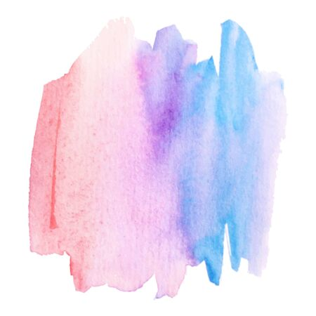 Watercolor brush paint paper texture vector isolated splash on white background for banner, poster, wallpaper. Banque d'images - 138350984