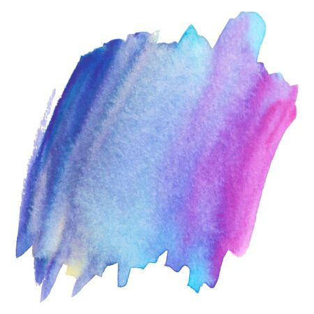 Watercolor brush paint paper texture vector isolated splash on white background for banner, poster, wallpaper. Banque d'images - 138350985