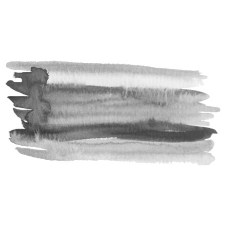 Grayscale abstract watercolor background for your design. Banque d'images - 138350994