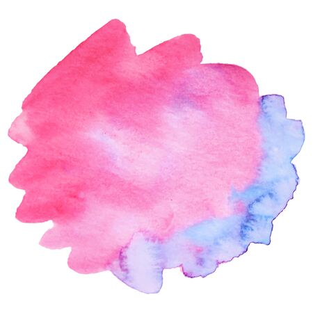 Watercolor brush paint paper texture vector isolated splash on white background for banner, poster, wallpaper.