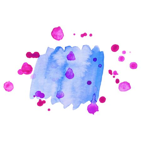 Abstract isolated colorful vector watercolor stain. Grunge element for paper design. Watercolor splash.