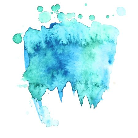 Colorful abstract watercolor stain with splashes and spatters. Modern creative background for trendy design. Vector illustration. Vector Illustratie