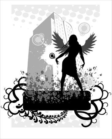 silouette: Urban angel Illustration