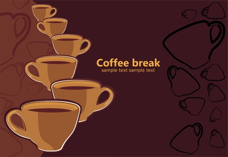 lunch break: Coffee break Illustration