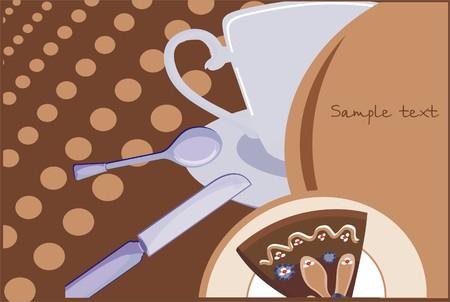 english tea: English tea background Illustration