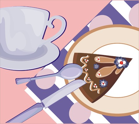 English tea background Vector