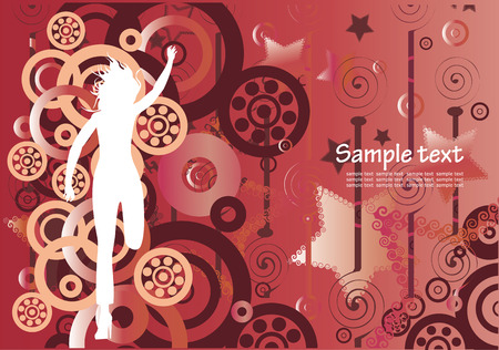 Abstarct background with female silhouette Stock Vector - 5137337