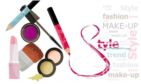 makeup brush: Fashion style Illustration
