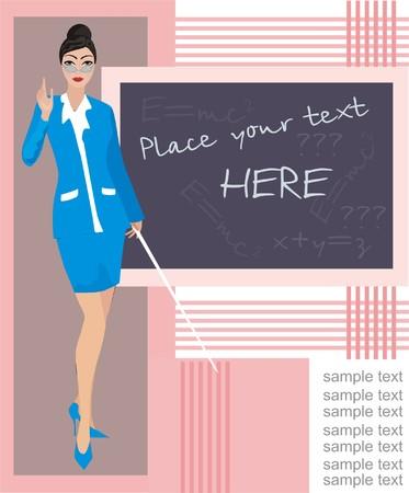 School background with teacher Stock Vector - 6811526