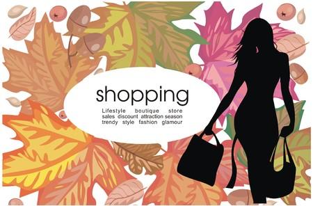 Seasonal shopping Vector
