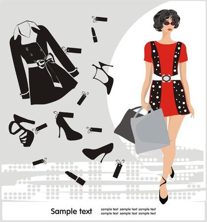 Fashion shopping Stock Vector - 5565743