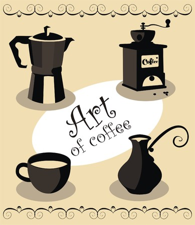 All about the coffee Stock Vector - 6405129