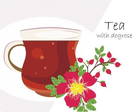 dogrose: Herbal tea with dogrose