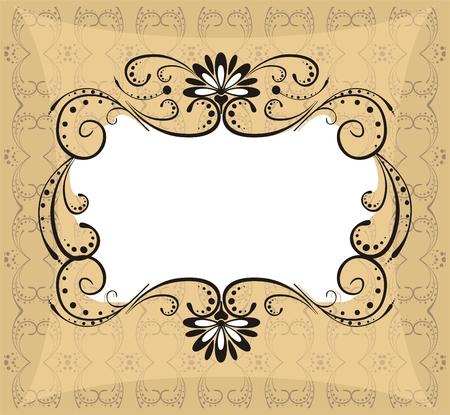 modificar: marco ornamentado en estilo retro f�cil de modificar  Vectores