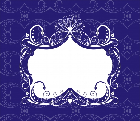 modify: ornate frame in retro style easy to modify Illustration