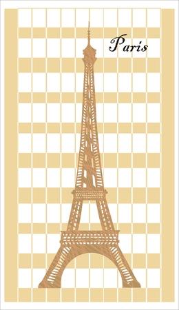 eifel: Eifel tower - symbol of Paris Illustration
