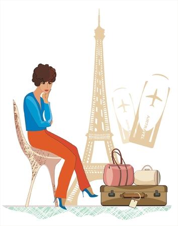 voyage to Paris Vector