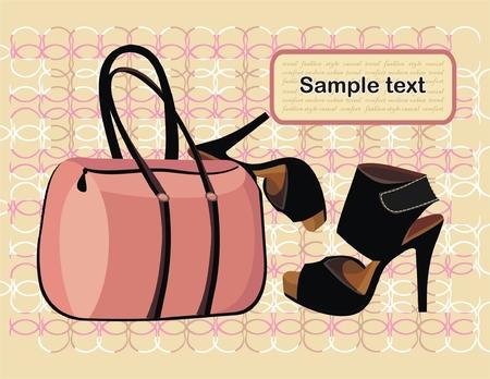 Bolsa de moda y calzado  Vectores