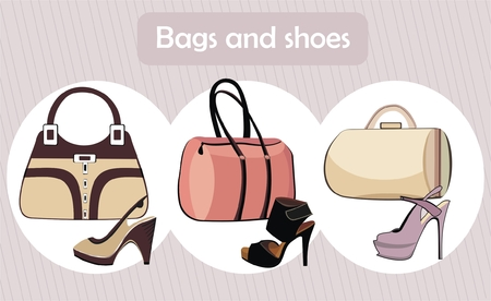 Fashion bags and shoes Vector