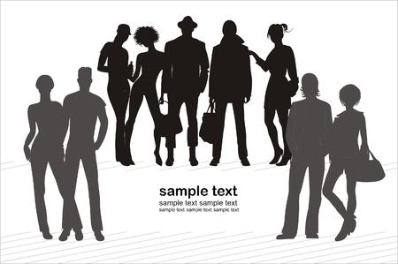 wijzigen: achtergrond met menselijke silhouetten gemakkelijk aan te passen