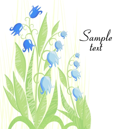 background with bluebells Stock Vector - 8592096