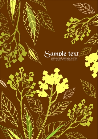 Floral background to place your art or text Vector