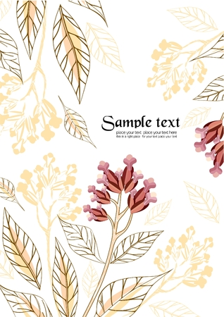Floral background to place your art or text