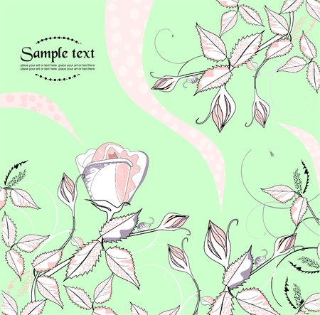 Rose garden Stock Vector - 9663792