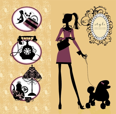 pet store: beauty and style set Illustration