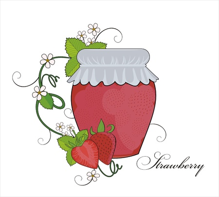 confiture: strawberry jam
