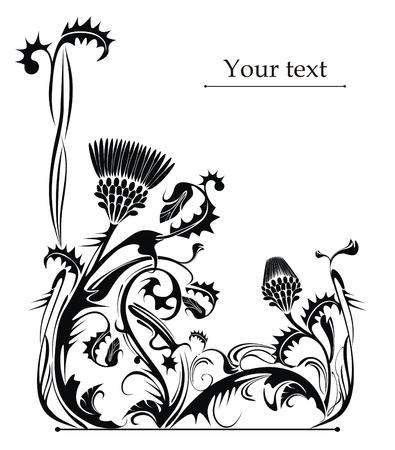dessin vectoriel de la plante chardon Vecteurs