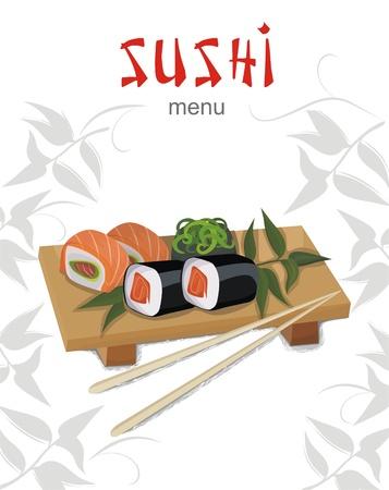Sushi men� Vectores