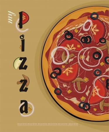 pizza menu cover  Stock Vector - 15220687