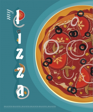 pizza menu cover  Illustration