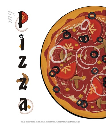 pizza menu cover  Vector