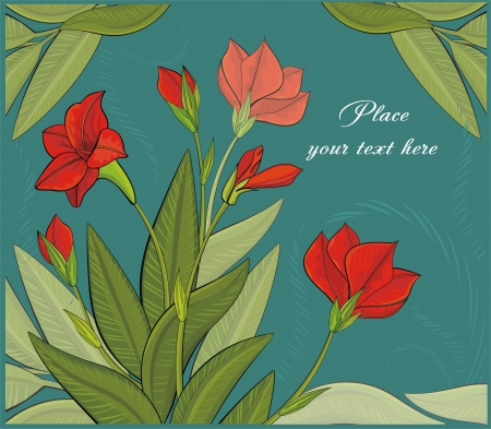 flowerhead: background with red flowers Illustration