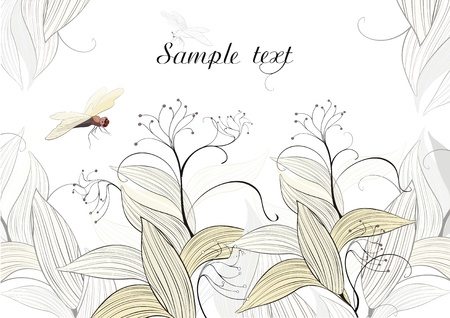 background with dragonfly - ready to place your art or text Stock Vector - 15830034