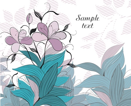 background with dragonfly - ready to place your art or text Stock Vector - 15844817