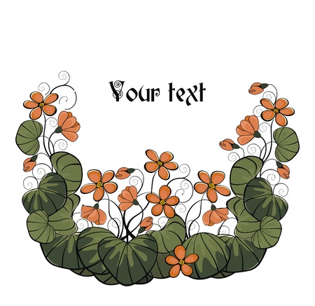 flowerhead: vector holiday background with garden flowers - ready to place your art or text Illustration