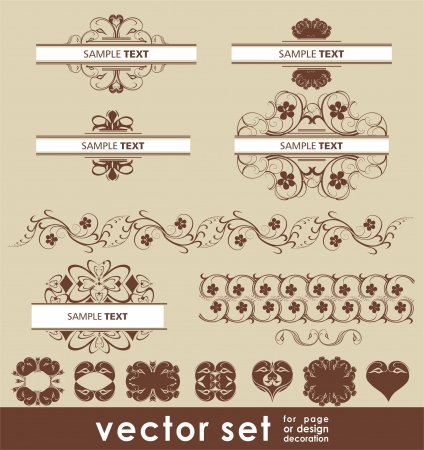 vector decoration set Vector