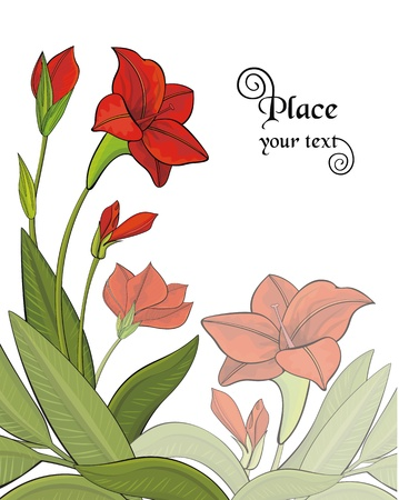 Background with garden flowers  Stock Vector - 16767469