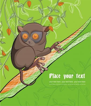 lemur: Background with lemur