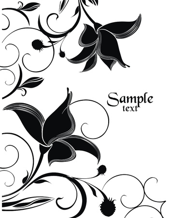 Background with garden flowers  Vector