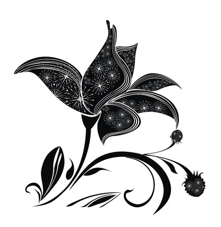flowerhead: Single isolated flower - for page layout design Illustration