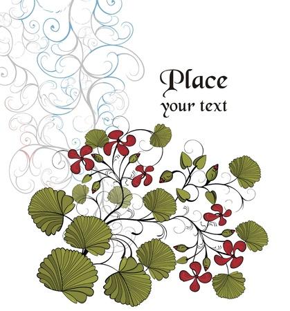 Background with garden plants Stock Vector - 17504314
