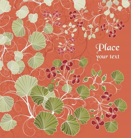 flowerhead: Background with garden plants
