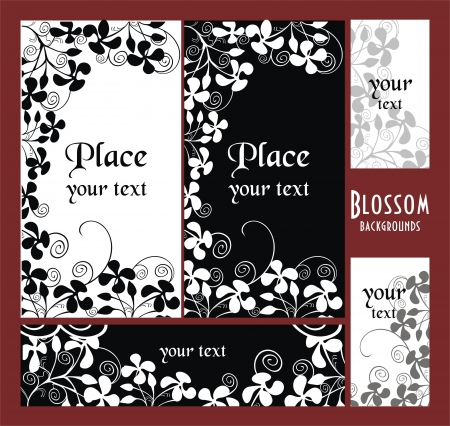 flowerhead: backgrounds with garden flowers Illustration
