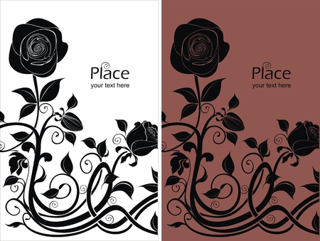 flowerhead: two vector backgrounds with roses