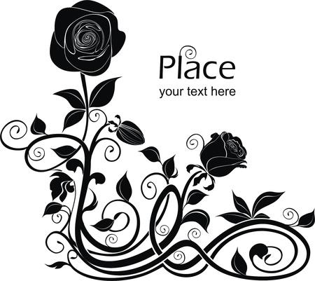 vector de fondo con rosas